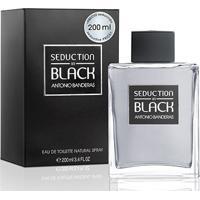 Perfume Masculino Seduction In Black Men Antonio Banderas Eau De Toilette 200Ml - Masculino