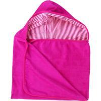 Toalha Super Absorvente Com Capuz Ecokids Place Pink