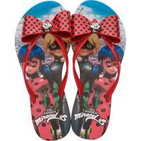 Chinelo Infantil Ladybug Laço Grendene Kids 21702