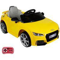 Carrinho Elétrico Infantil Audi Tt Rs 12V Com Controle Remoto Belfix Amarelo