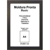 Moldura Pronta 21X29,7 Basic Preta Casa Castro