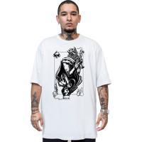 Camiseta Manga Curta Skull Clothing Rei E Rainha Branco
