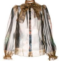 Dolce & Gabbana Blusa Com Estampa - Marrom