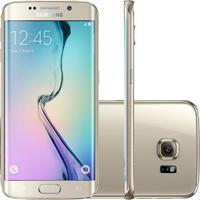 "Smartphone Samsung Galaxy S6 Edge Dourado - 64Gb - 4G Lte - Octa Core - Câmera 16Mp - Super Amoled 5.1"" - Android 5.0"