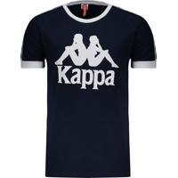 Camiseta Kappa Authentic Due Due Marinho