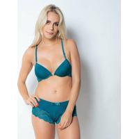 54d225647 ... Conjunto Click Chique Nadador Caleçon - Feminino-Verde