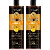 Kit 1 Shampoo Blens Oil - 1L 1 Condicionador Blends Oil 1L - Unissex-Incolor