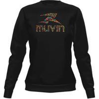 Blusa Moleton Sporticons - Feminino - Muvin - Bsc-02100 - Feminino