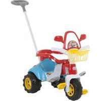 Triciclo Infantil Magic Toys Zoom Max - Unissex-Branco+Vermelho