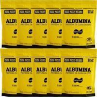 Kit 10 Albumina - 500G Refil Morango - Naturovos - Unissex