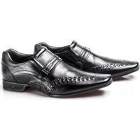 Sapato Social Rafarillo Couro New Vegas Masculino - Masculino-Preto