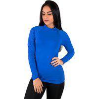 Blusa Térmica Diluxo Camisa Segunda Pele Uv Azul Royal