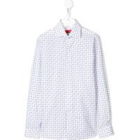 Isaia Kids Camisa Com Estampa Paisley - Branco