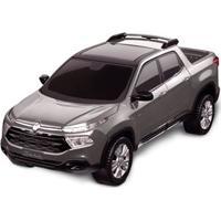 Carrinho Roda Livre - Pick Up - Fiat Toro - Prata - Roma Jensen