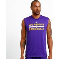 Camiseta Regata Adidas Nba Los Angeles Lakers Reversivel - Masculino