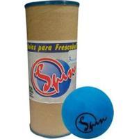 Bola Frescobol Spin Tubo C/ 3 - Unissex-Azul