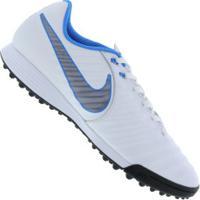 2699224d22 Chuteira Society Nike Tiempo Legend X 7 Academy Tf - Adulto - Branco Cinza