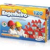 Brincando De Engenheiro 120 Peças - Xalingo - Unissex-Incolor