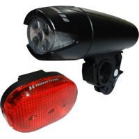 Farol High One Dianteiro 5 Leds Vista Light Traseiro 3 Leds Preto/Vermelho