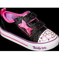 Tênis Infantil Skechers Shuffles Itsy Bits Feminino - Feminino-Preto+Rosa