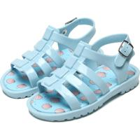 Sandália Pimpolho Menina Conchas Azul