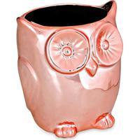 Cachepot Coruja Rosé 10X9X9 Cm