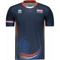 Camisa Holanda Vôlei Away 2017 Errea Masculina - Masculino