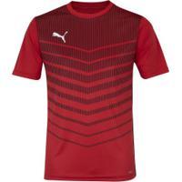 Camiseta Puma Graphic Play - Masculina - Vermelho/Preto