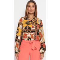 Blusa Floral - Amarela & Preta - Operateoperate