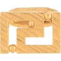 Versace Abotoaduras Esculpidas Douradas - Dourado