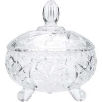 Bomboniere De Cristal Luxo 16,5X16,5X18,4Cm - Lyor Classic - Transparente