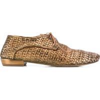 Marsèll Sapato Oxford De Couro - Dourado