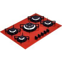 Cooktop Em Vidro Temperado Com 5 Queimadores Bivolt Perfecta Vermelho - Tramontina