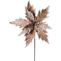 Flor Decorativa Com Brilho- Nude- 40X25X25Cm- Crcromus