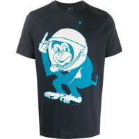 Ps Paul Smith Camiseta Space Monkey - Azul