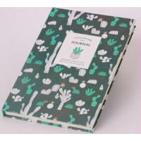 Caderno Cactos Verde Escuro