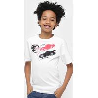 Camiseta Infantil Disney Carros Masculino - Masculino-Branco