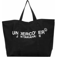 Undercover Bolsa Tote Grande Com Estampa Gráfica - Preto