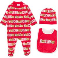Moschino Kids Conjunto De Pijama Teddy - Vermelho