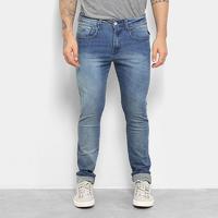Calça Jeans Skinny Replay Estonada Anbass Masculina - Masculino-Azul