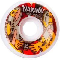 Rodas Narina Skate Animal 58Mm 100A Branca
