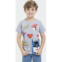 Camiseta Infantil Super Heróis Liga Da Justiça