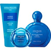 Kit Coffret Tradicional Anna Pegova - Emulsão De Limpeza 200Ml + Creme Mellecente 40Ml + Máscara Anti-Idade 40Ml