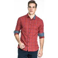 Camisa Carlos Brusman Xadrez Vermelho - Vermelho