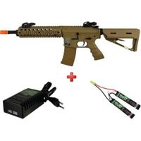 Rifle Airsoft Elétrico Src Sr4-St Delta M Desert + Carregador Qgk L1P1+ Bateria Airsoft - Unissex