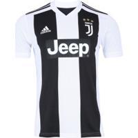 Camisa Juventus I 18/19 Adidas - Masculina - Branco/Preto