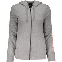Jaqueta Adidas Essentials Linear Fz Feminina Cinza