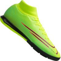Chuteira Futsal Nike Mercurial Superfly 7 Academy Mds Ic - Adulto - Amarelo Fluor/Preto