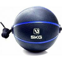 Bola Liveup De Peso Medicine Ball Com Corda 5Kg - Unissex