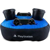 Almofada Suporte Para 2 Controles Com 2 Copos Playstation